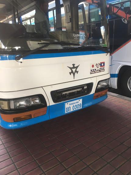 ウドンタニからビエンチャンへ バス